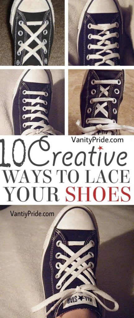 cool shoe lacing ideas, creative ways to tie your shoe lace, fun ways to tie your shoe lace
