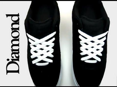 diamond lacing, diamond shoe lacing