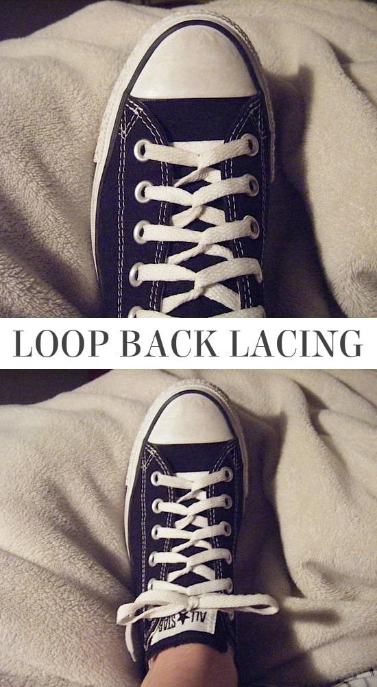 loop back lacing, cool loop back shoe lacing