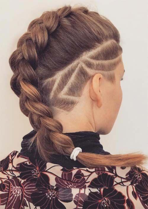 undercut bob, ponytail undercut