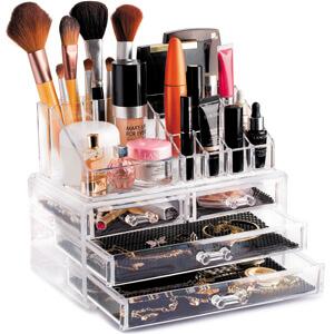 clear cosmetic makeup box, makeup box