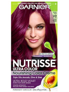 garnier intense violet, purple hair dye, purple hair color